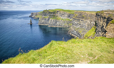 cliffs of moher - An image of the famous Cliffs of Moher in...