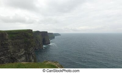 Cliffs of Moher and Atlantic ocean in Ireland - Nature and...