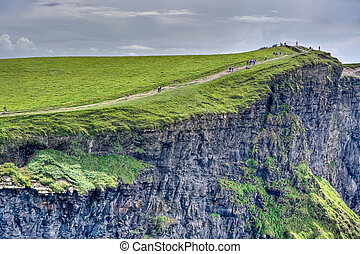 Cliffs of Moher - The top of the Cliffs of Moher in Ireland