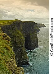 Cliffs of Moher - View of the cliffs on the west coast of...