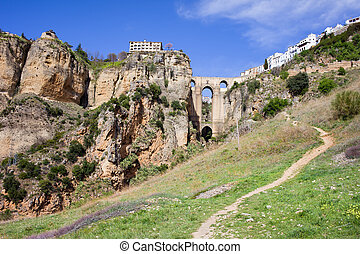 Cliffs of Ronda in Andalusia