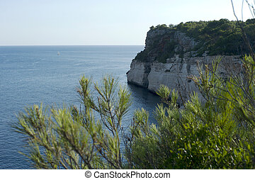 Cliffs of the Coast of Menorca