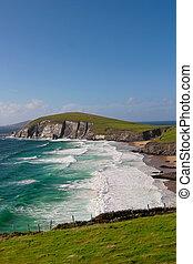 Scenic landscape by sea on Dingle Peninsula in Ireland