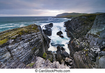 Cliffs over ocean