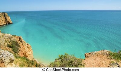 Cliffs view on Lagos, Algarve - Cliffs view by Atlantic...