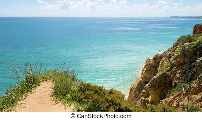 Cliffs view on Lagos, Algarve - Cliffs view by Atlantic...