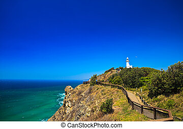 Cliffside Pathway up to Byron Bay Lighthouse - Byron Bay...