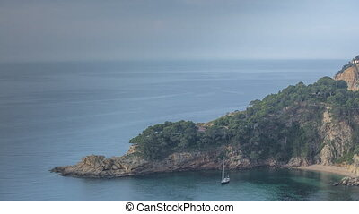 clifftop coast sea spain mediterranean timelapse - timelapse...