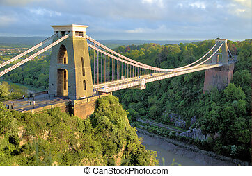 Beautiful suspension toll bridge by Brunel surrounded by nature in Bristol England