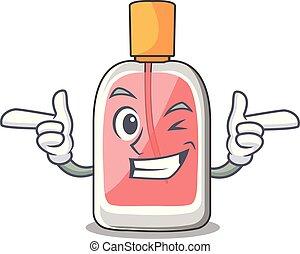 clignement, forme, parfum, botlle, dessin animé