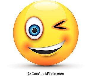 cligner, emoji