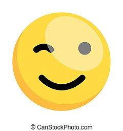 cligner, smiley, oeil