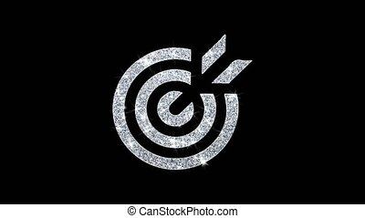 clignotant, boucle, emblème, cible, icône, pictogramme,...