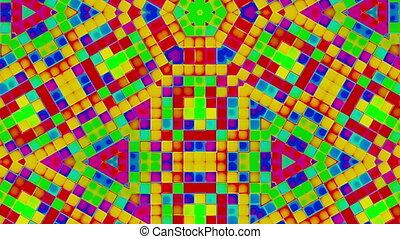 clignotant, carrés, mosaïque