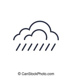 clima, conceito, chuva, previsão, tempo, ícone