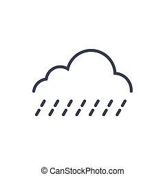 clima, conceito, luz, chuva, previsão, tempo, ícone