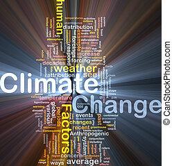 clima, conceito, mudança, fundo, glowing