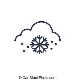 clima, conceito, neve, previsão, tempo, ícone