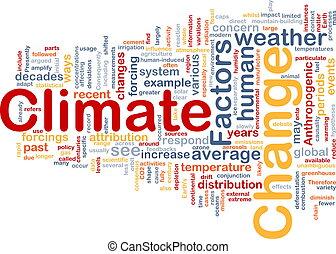clima, concepto, cambio, plano de fondo