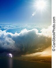 clima, concepto, concepto, pronóstico, tiempo, cambio