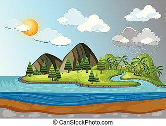 clima, paisaje tiempo