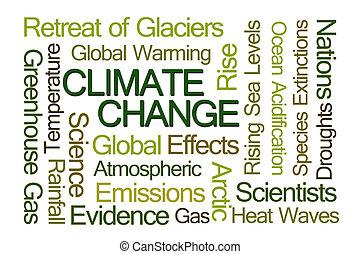 clima, palabra, cambio, nube