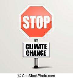 climat, arrêt, changement