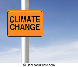 Climate Change - A road sign warning of climate change ahead...