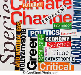 Climate change background words