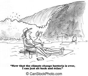 Climate change - Cartoon about climate change.