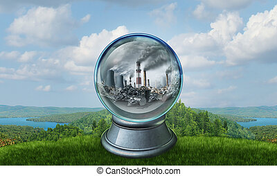 Climate Change - Climate change environmental concept as a...