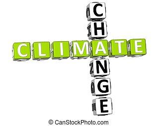 Climate Change Crossword