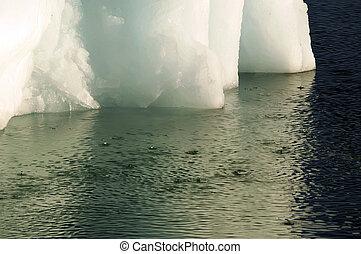 Climate change: melting iceberg