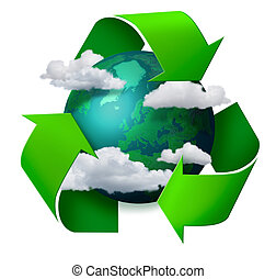 Climate change recycling concept - Climate change concept...