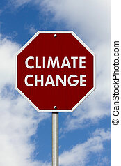 Climate change red stop highway road sign, Red stop road ...