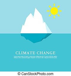 Climate change vector poster design - Climate change poster ...