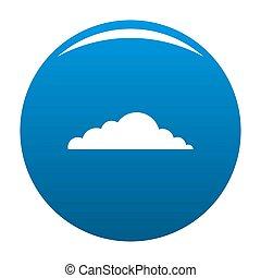 Climate cloud icon blue