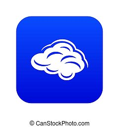 Climate cloud icon blue