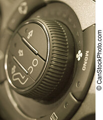 Climate control regulator in a car