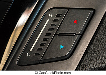 Climate control unit in the new car close