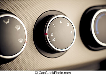 Climate controls instrument panel in car, vehicle. - Car,...