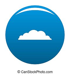 Climate icon blue