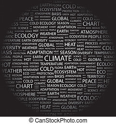 CLIMATE. Word cloud concept illustration. Wordcloud collage.