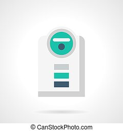 Climatic appliance flat color vector icon - Climatic...