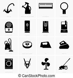 climatico, e, pulizia, apparecchi