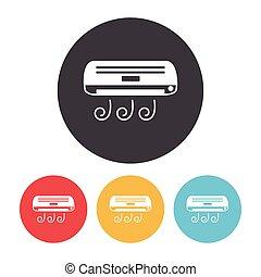 climatiseur, air, icône