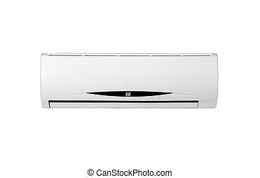 climatiseur, blanc, isolé, air