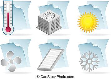climatiseur, document, air