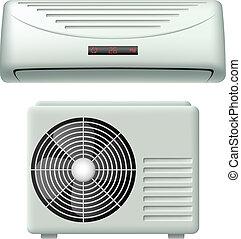 climatiseur, ensemble, air