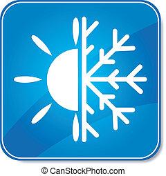 climatiseur, icône, air